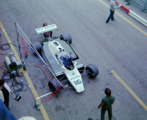 Keke Rosberg testing at Zandvoort