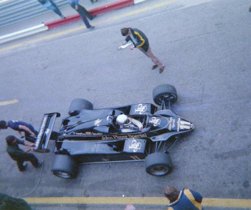 Elio De Angelis testing at Zandvoort