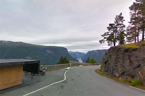 2014 - Stegastein Utsiktspunkt at Björkavegen (FV243) near Aurland - N (Google Streetview)