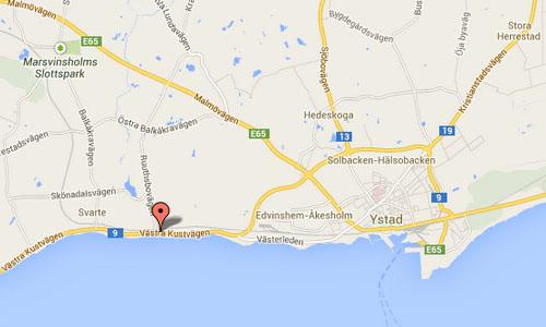 Västra Kustvägen Ystad Maps
