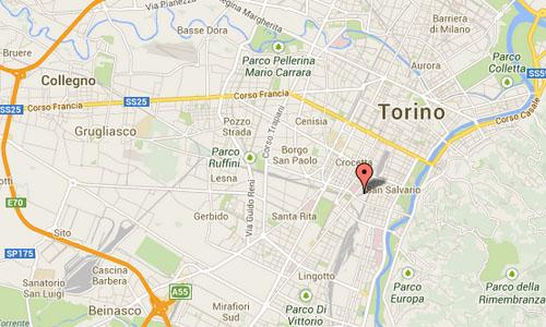 Via Agostino da Montefeltro in Turin maps2