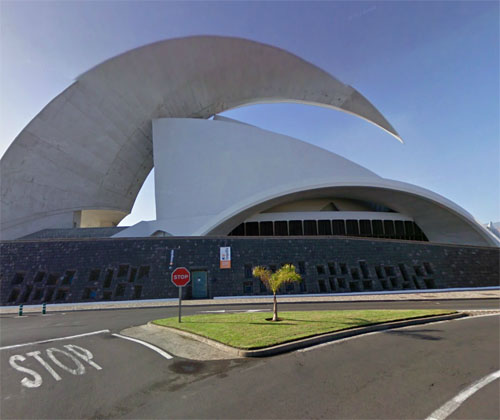 2014 - Auditorio de Tenerife Adán Martín on Av. Constitución, nº 1 in  Santa Cruz de Tenerife - Spain (Google Streetview)
