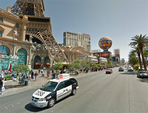 2014 - Las Vegas Strip or S Las Vegas Boulevard near Le Boulevard at Paris in Las Vegas, USA (Google Streetview)
