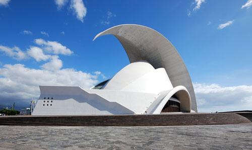 Auditorio de Tenerife Seitlich
