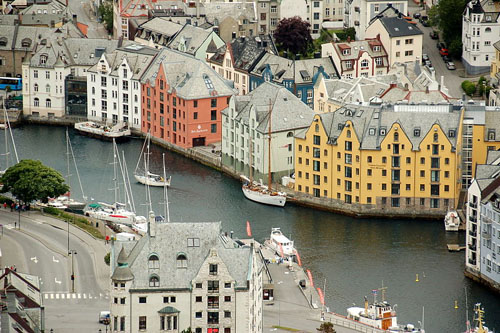 Buildings at Alesund waterfront