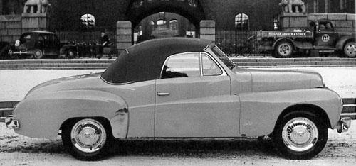 1950 – Volvo P445 Cabriolet by Gustaf Nordbergs Vagnfabrik