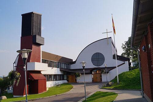 2014  - Glöstorpskyrkan on Tuve Torg on Hisingen, Göteborg