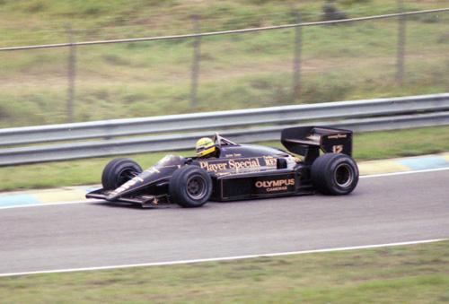 Ayrton Senna with Lotus-Renault