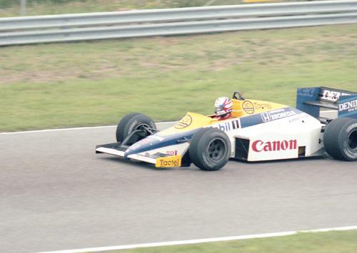 Nigel Mansell with Williams-Honda FW10