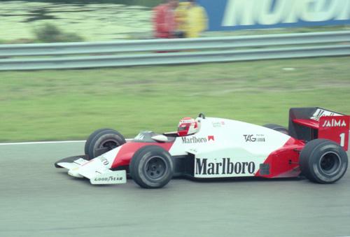 Niki Lauda with McLaren-TAG MP4-2b