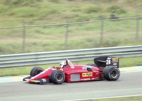 Stefan Johansson with Ferrari 156