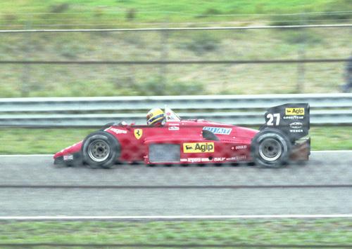 Michele Alboreto with Ferrari 156