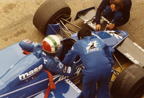 Andrea de Cesaris with Ligier-Renault JS25