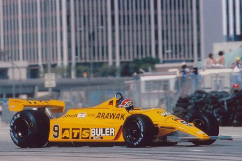 1980 - Jan Lammers with ATS at US GP Long Beach