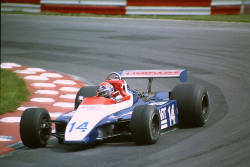 1980 - Jan Lammers with Ensign N180 at British Grand Prix Brands Hatch