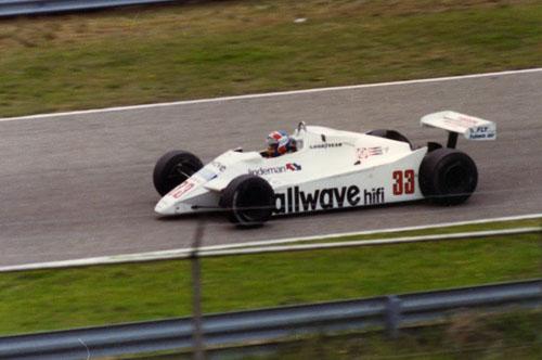 1982 - Jan Lammers with Theodore at Dutch GP Zandvoort (own photo)