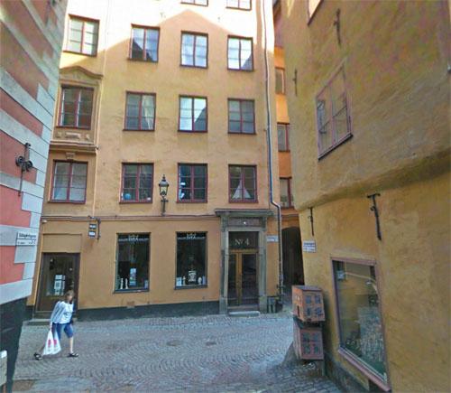 2015 - Köpmangatan in Gamla Stan,  Stockholm (Google Streetview)