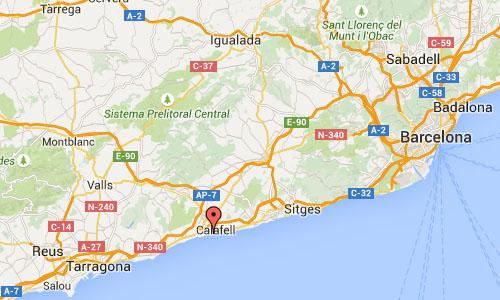 2015 - Playa de Tarragona El Vendrell  Google Maps01