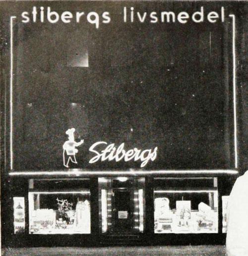 1945 - Stibergs Livsmedel Kungstorget Göteborg (http://www.ica-historien.se/)