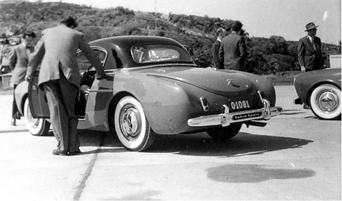 1954-06-02 - Volvo Sport P1900 Press introduction at Torslanda Airport