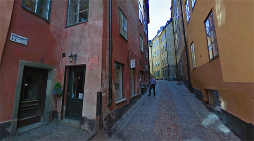 2016 - Bollhusgränd in Gamla Stan in Stockholm (Google Streetview)