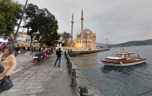 2016 - Ortaköy Mosque in Istanbul (Google Streetview)