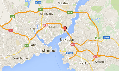 2016 - Ortaköy Mosque in Istanbul Maps01