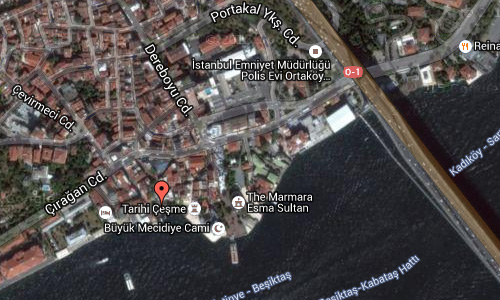 2016 - Ortaköy Mosque in Istanbul Maps02