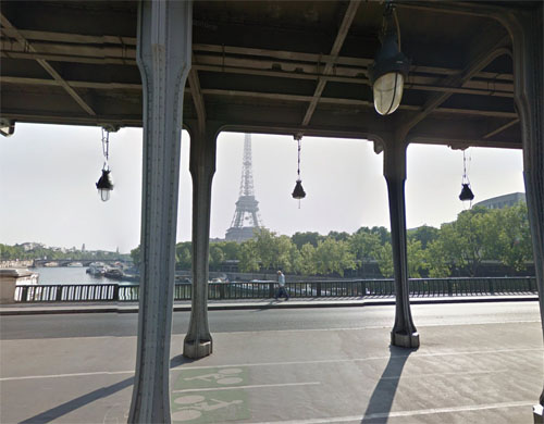 2016 - Pont de Bir-Hakeim  over the Seine in Paris France (Google Streetview)