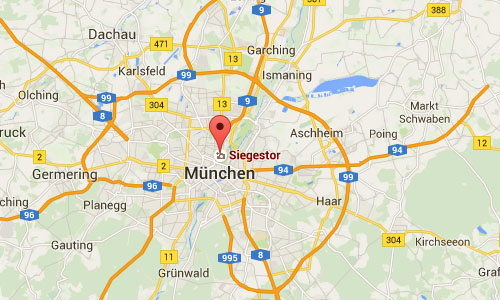 2016 - Siegestor in Munich Maps01