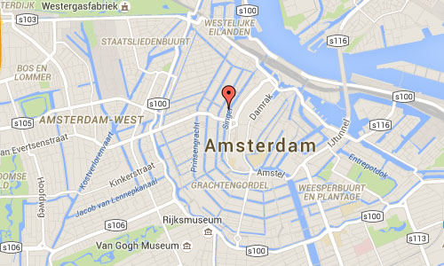 2016 - Torensluis at Singel Amsterdam maps01
