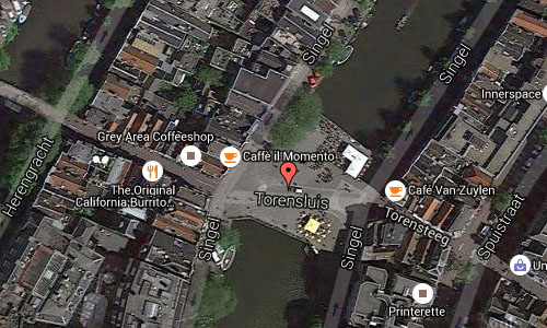 2016 - Torensluis at Singel Amsterdam maps02