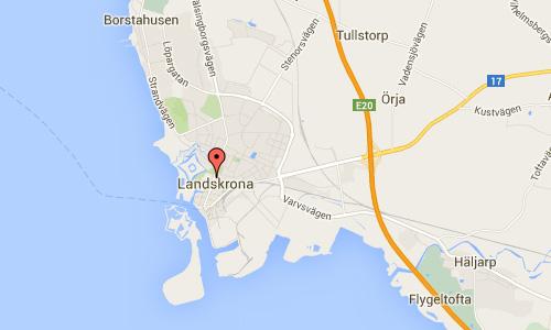 2016 - Gamla Kyrkogatan in Landskrona maps01