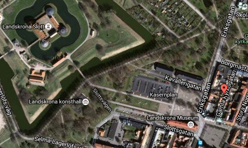 2016 - Gamla Kyrkogatan in Landskrona maps02