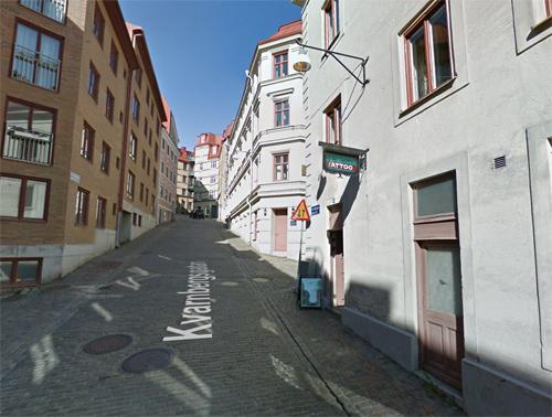 2016 - Kvarnbergsgatan in Göteborg (Google Streetview)