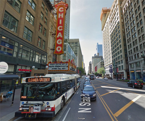 2016 - The Chicago Theatre at 175 N State St in Chicago, USA (Google Streetview)