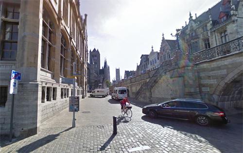 2016 - Graslei and Pakhuisstraat in Gent , Belgium (Google Streetview)