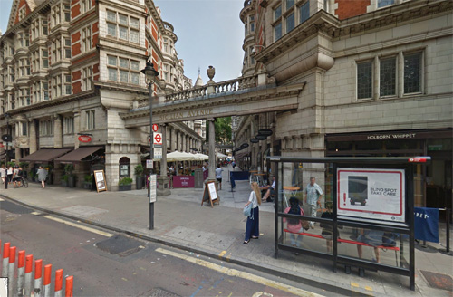 2016 - Sicilian Avenue at Bloomsbury Way in London (Google Streetview)