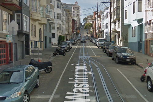 2016 - Washington St near Powell St in San Francisco USA (Google Streetview)