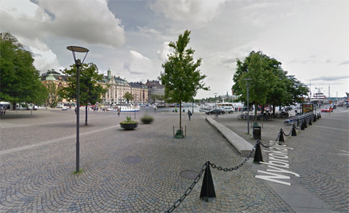 2016 - Nybrokajen at Raoul Wallenbergs torg in Stockholm (Google Streetview)