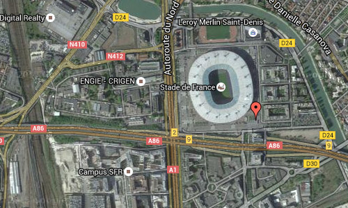 2016 - Stade de France at Avenue Jules Rimet in Paris Maps02