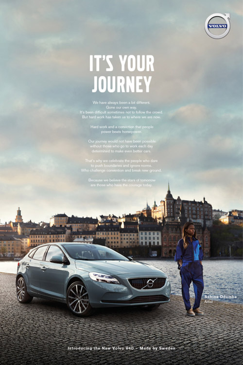 2016 Print Ad - Its your journey Campaign in Sweden