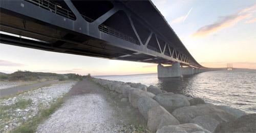 2016 - Öresundsbron near Malmö (Google Streetview)