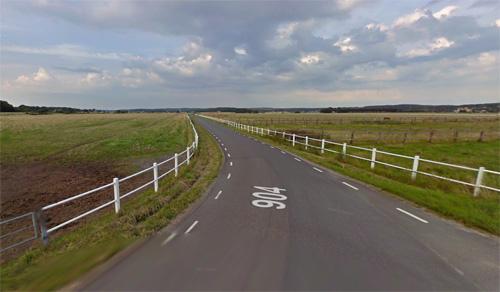 2016 - Ölmanäs ringväg at Gårda Brygga in Åsa, Kungsbacka Kommun, Sweden (Google Streetview)