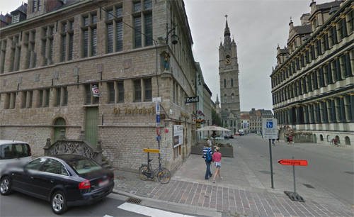 2016 - The corner of the Hoogpoort and Botermarkt in Gent, Belgium (Google Streetview)