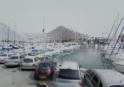 2016 - Marina Baie des Anges with Port Marina, seen from Rue de la Jetée in Villeneuve-Loubet (Google Streetview)