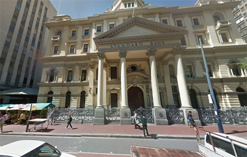 2016 - Standard Bank at Adderley St in Cape Town SA  (Google Streetview)