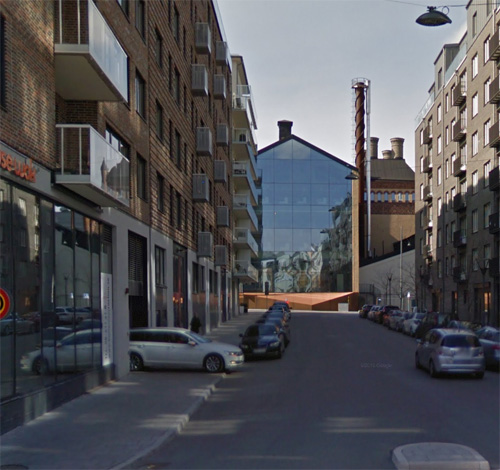 2016 - Stora Bryggeriet on Lars Forssells gata near Lindhagensgatan on Kungsholmen in Stockholm, Sweden. (Google Streetview)