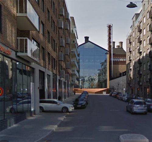 2016 - Stora Bryggeriet on Lars Forssells gata near Lindhagensgatan on Kungsholmen in Stockholm, Sweden. (Google Streetview)