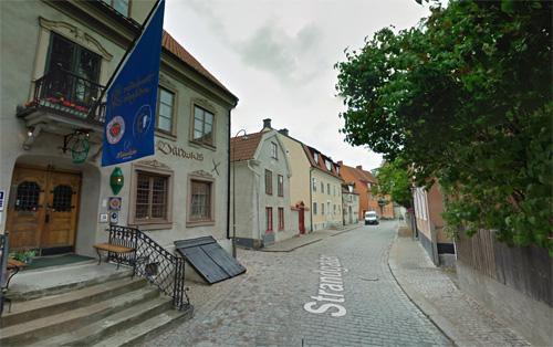 2016 - Strandgatan near Kompanigränd in Visby on Gotland, Sweden (Google Streetview)